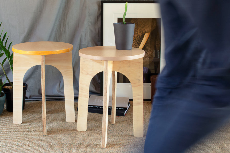 Parkville Plus Stool made in our Sri Lanka woodshop