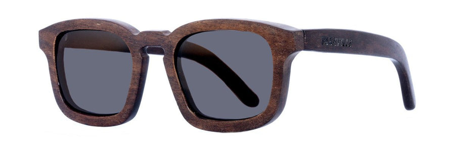 Parkville Dombies (kumbuk wood): wooden sunglasses with spring hinges
