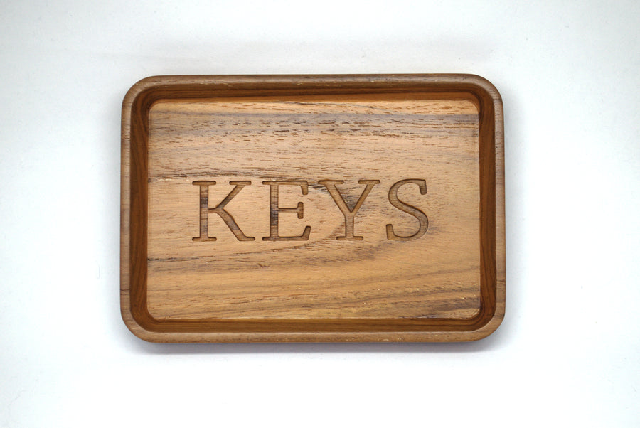 Parkville Home Furniture teak wood key tray for home decor