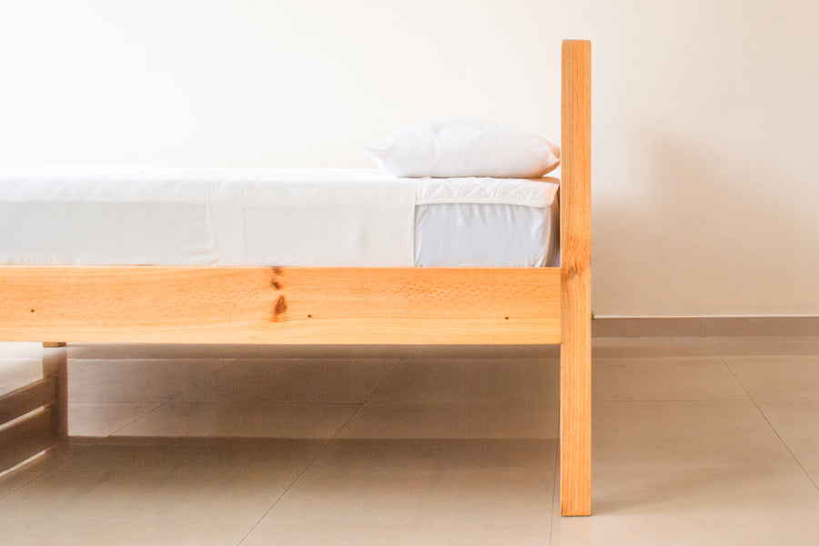 Side View of The Parkville Home Bed Made In Sri Lanka