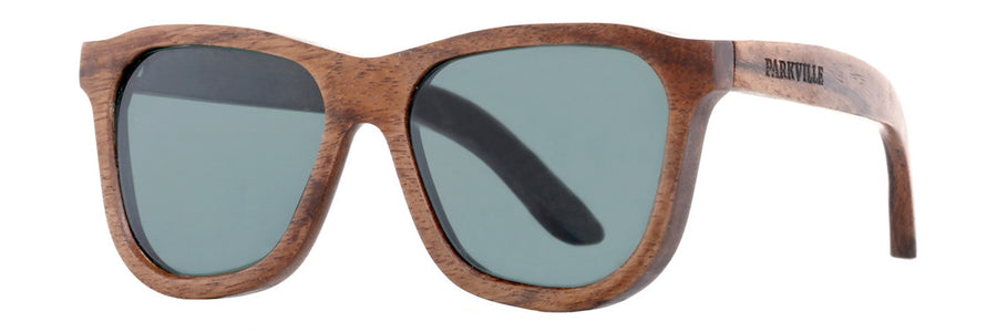 Green lenses in Parkville sunglasses