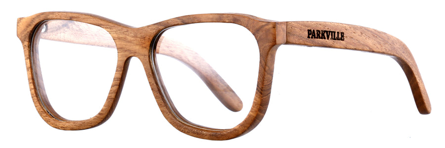 Parkville Wooden Eyewear: Teak Wood Frame, Prescription Lenses, Reading Glasses