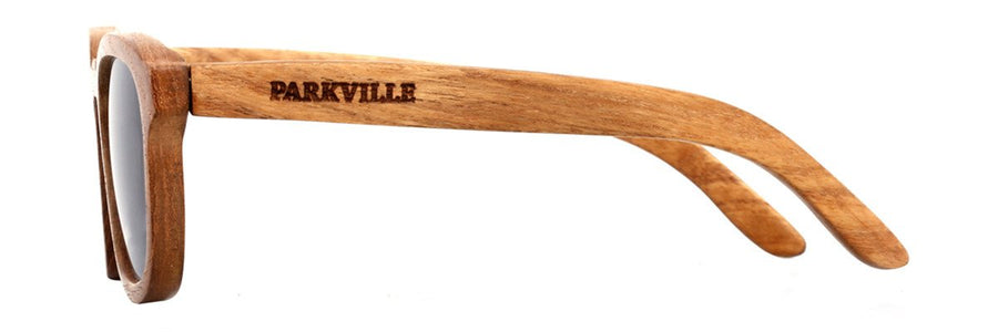 Parkville wooden sunglasses with prescription lenses