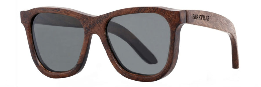 Parkville wooden sunglasses with polarized lenses