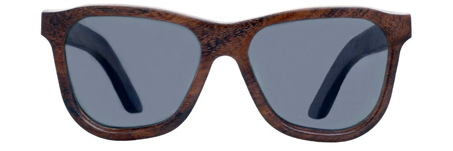Parkville wayfarer glasses, dark frame and polarised lenses