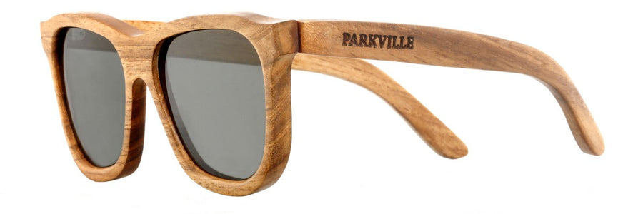 Parkville Dutch Bay Sunglasses: Grey Polarised Lenses (Side Angle Image 2)