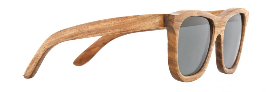 Parkville Dutch Bay Sunglasses: Grey Polarised Lenses (Side Angle Image 6)