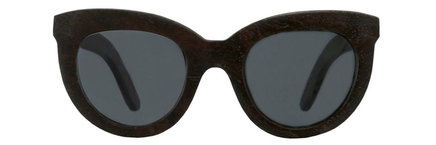 Parkville Cats Eyes Sunglasses - wooden frame with polarised lenses