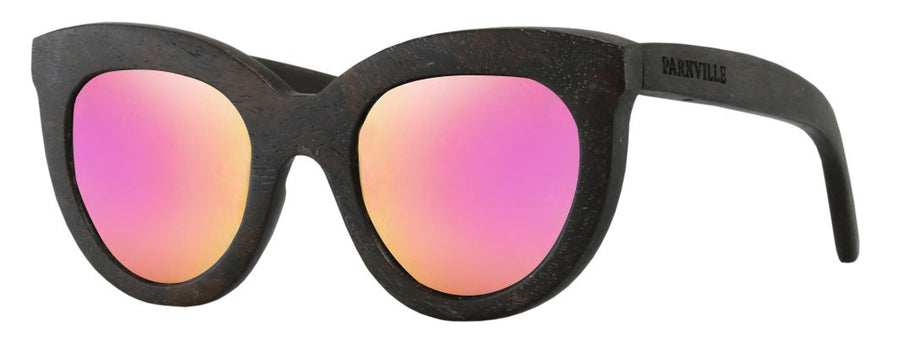 Parkville wooden eyewear polarised Mirrored sunglasses