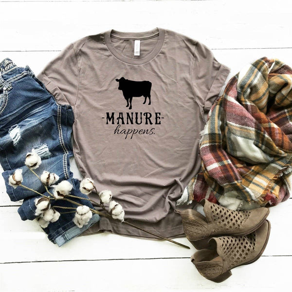 Manure Happens-Farm Country Graphic Shirt