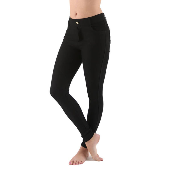 Black Jean Legging with Pockets PLUS