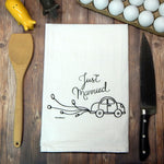 Just Married Wedding Tea Towel