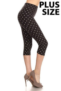 Plus Size Polka Dot Capris