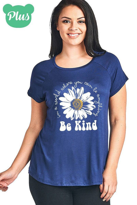 Plus Size Be Kind Short Sleeve Top