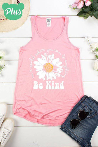 Plus Size Be Kind A-Line Tank Top