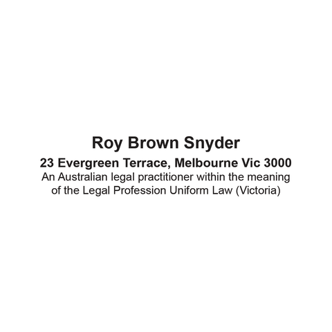 Australian Legal Practitioner Stamp