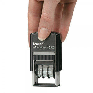 Trodat Printy 4850 Custom Self-Inking 3.8mm Date Stamp 25 x 5mm