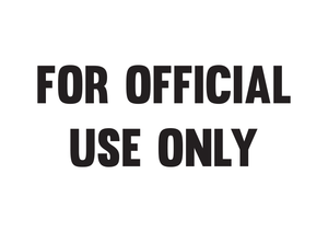 For Official Use Only Stamp