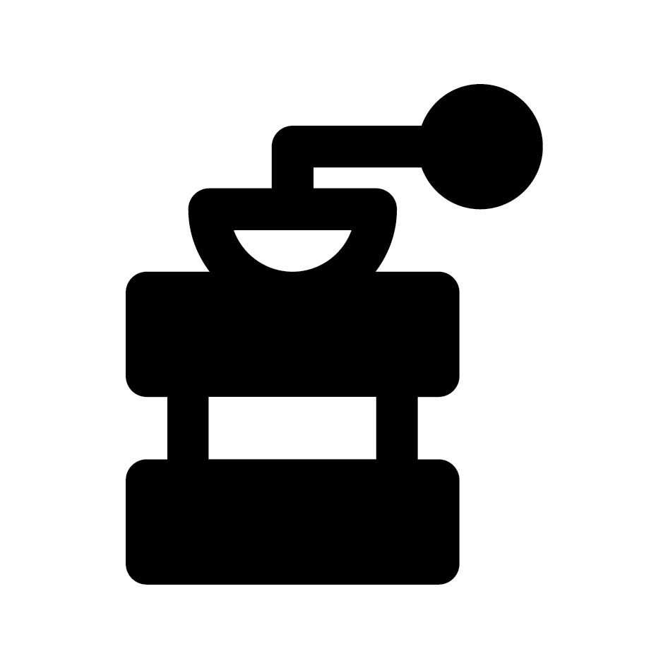 Coffee Grinder Loyalty Card Stamp 12 x 12mm, No.18