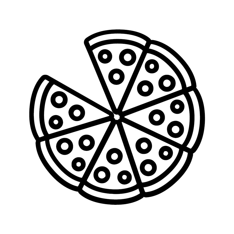 Pizza Loyalty Card Stamp 12 x 12mm, No.20