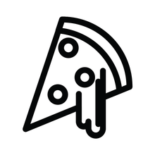 Load image into Gallery viewer, Pizza Cheesy Slice Loyalty Card Stamp 12 x 12mm, No.21