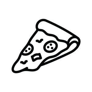 Pizza Slice Loyalty Card Stamp 12 x 12mm, No.23
