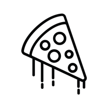 Load image into Gallery viewer, Pizza Slice Loyalty Card Stamp 12 x 12mm, No.24