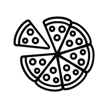 Load image into Gallery viewer, Pizza 7 Slices Loyalty Card Stamp 12 x 12mm, No.25