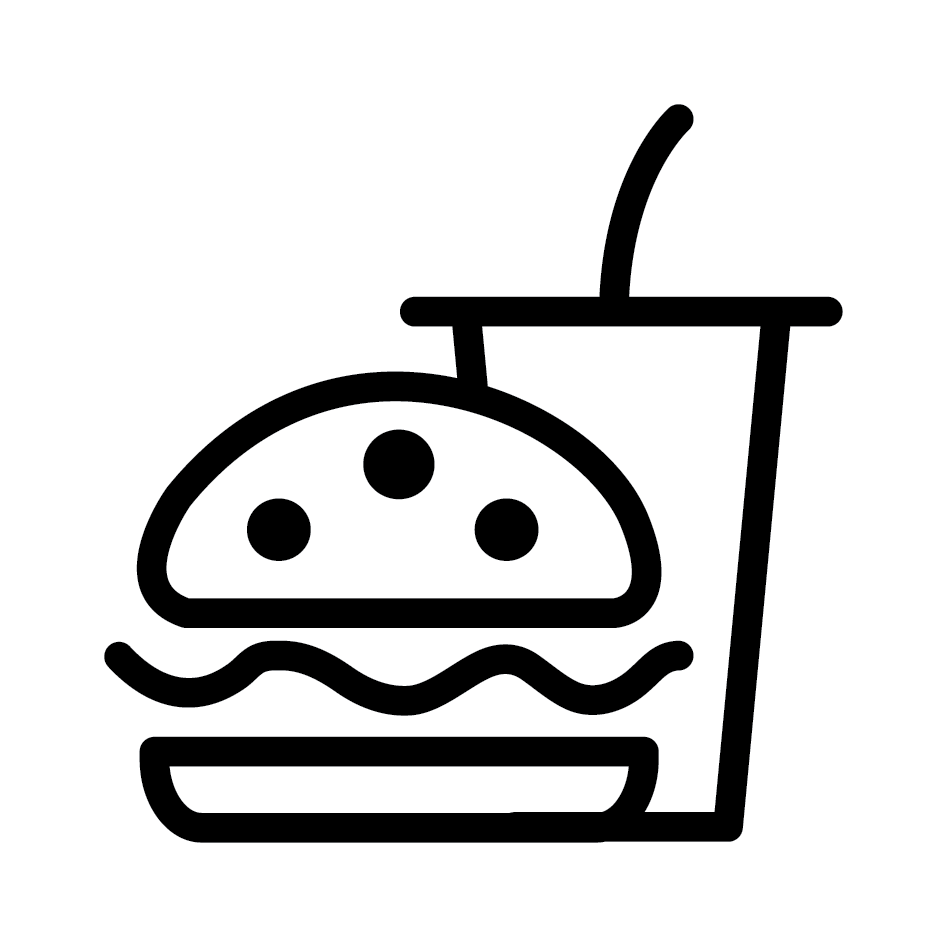 Burger Combo Loyalty Card Stamp 12 x 12mm, No.28