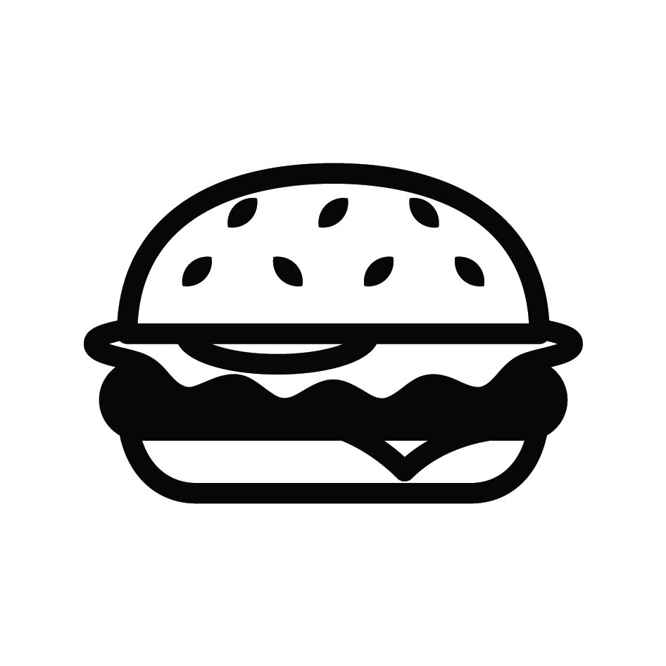 Beef Burger Loyalty Card Stamp 12 x 12mm, No.36