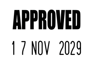 Approved Mini-Date Stamp