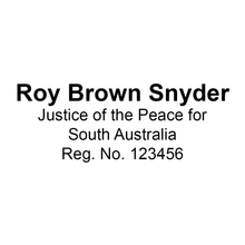 Load image into Gallery viewer, South Australia Justice Of The Peace Stamp With Name And Registration Number
