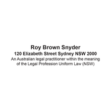 Load image into Gallery viewer, Australian Legal Practitioner Stamp New South Wales