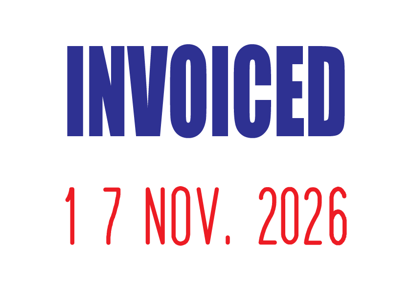 Invoiced Mini-Date Stamp