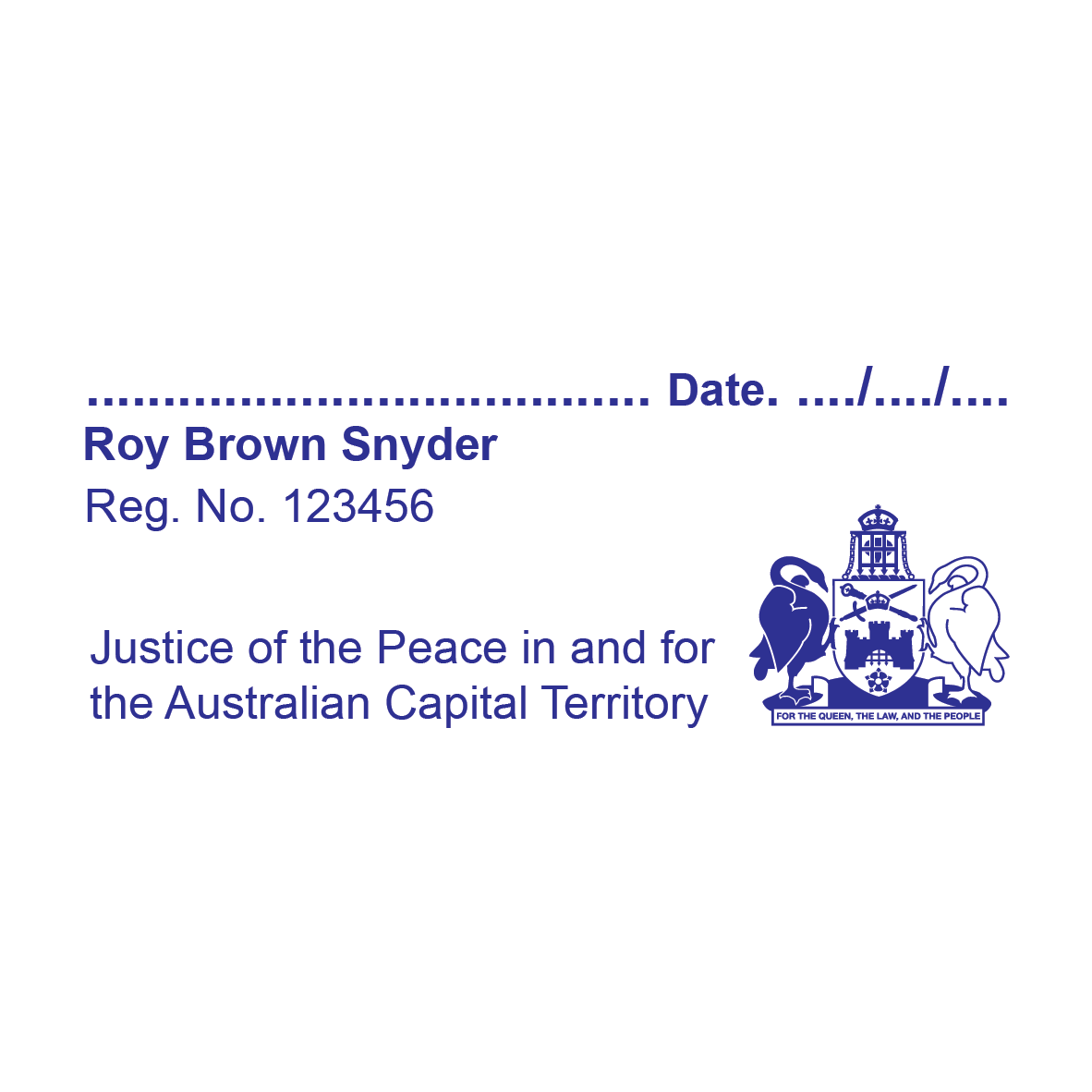 Australian Capital Territory Justice Of The Peace With