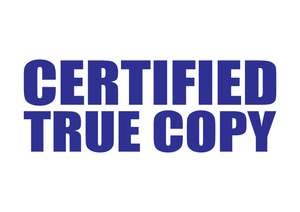 Certified True Copy Stamp