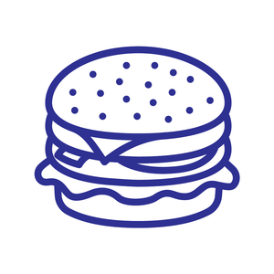 Burger Loyalty Card Stamp 12 x 12mm, No.31