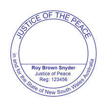 Load image into Gallery viewer, New South Wales Justice Of The Peace Stamp Large Round