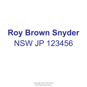 New South Wales Justice Of The Peace Name With Registration Number