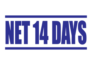 Net 14 Days Stamp
