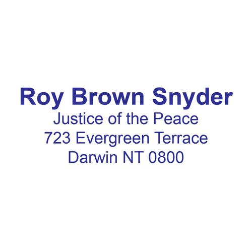 Northern Territory Justice Of The Peace With Name and Registration Address