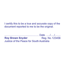 Load image into Gallery viewer, South Australia Justice of The Peace Stamp True Copy