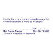 Load image into Gallery viewer, Tasmania Justice Of The Peace Stamp True Copy
