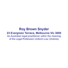 Load image into Gallery viewer, Australian Legal Practitioner Stamp Victoria