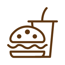 Load image into Gallery viewer, Burger Combo Loyalty Card Stamp 12 x 12mm, No.28