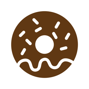 Donut Loyalty Card Stamp 12 x 12mm, No.46
