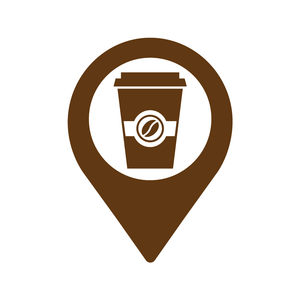 Coffee Location Loyalty Card Stamp 12 x 12mm, No.7