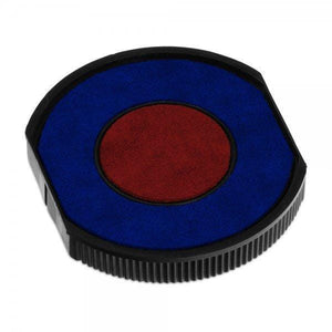 Colop Replacement Ink Pad E/R40 Blue Red 2 Colour Round