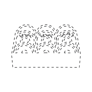 Donut Box Loyalty Card Stamp 12 x 12mm, No.51