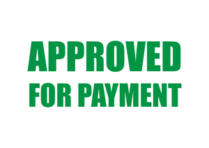 Approved For Payment Stamp